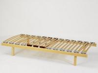 sommier cadre bois, 26 lattes, curseurs, 90 cm